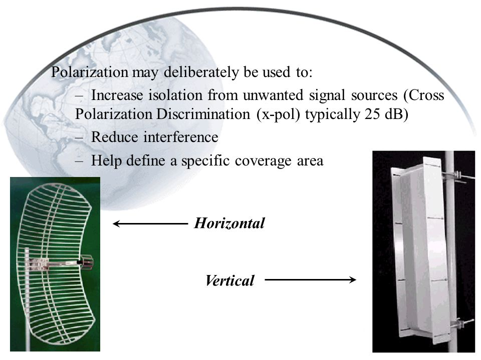 Polarization may deliberately be used to: