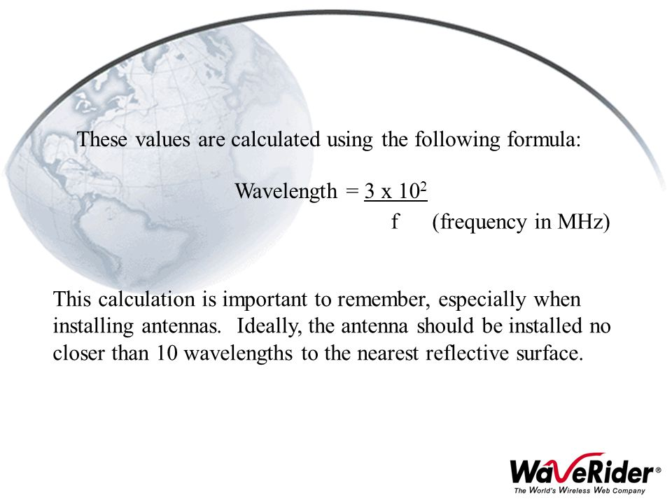 These values are calculated using the following formula: