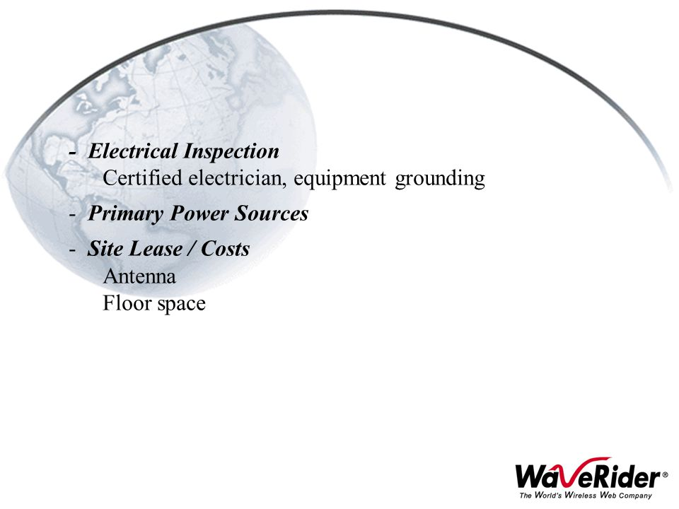 - Electrical Inspection