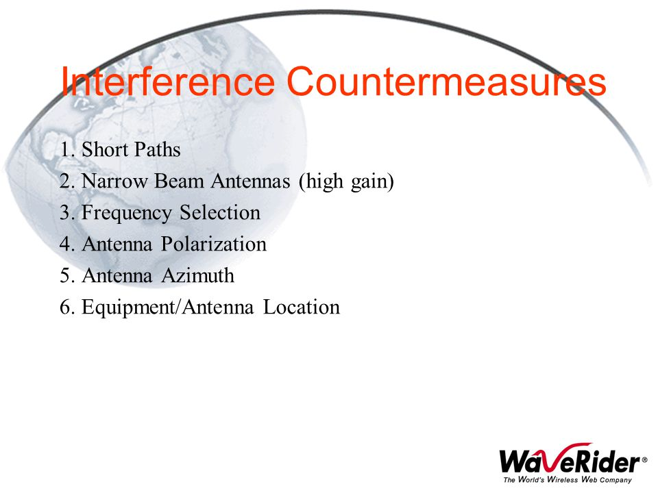 Interference Countermeasures