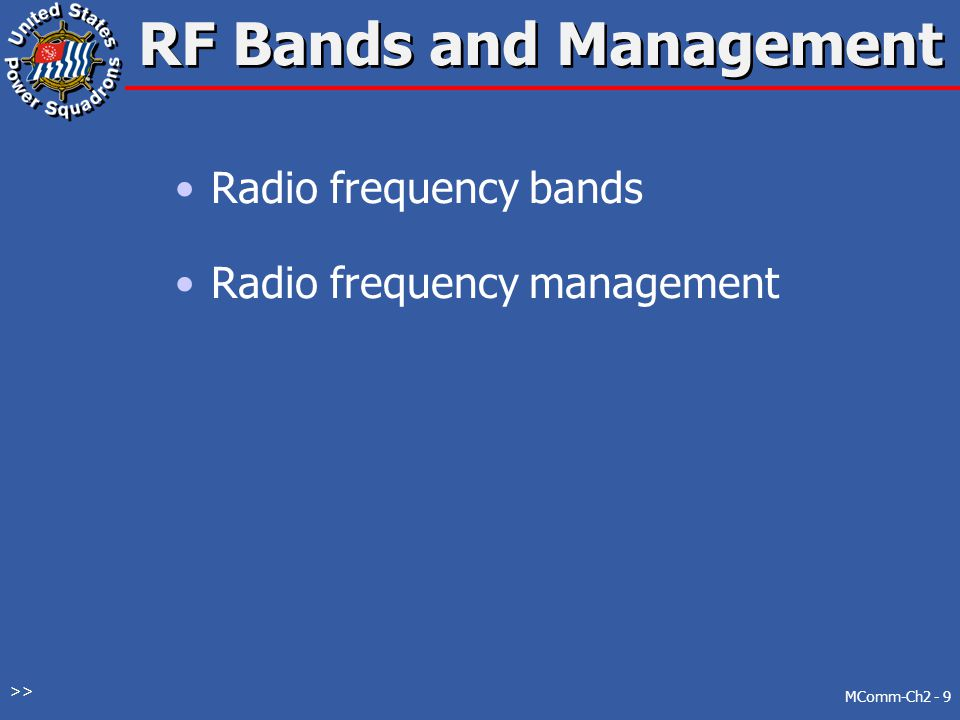 RF Bands and Management