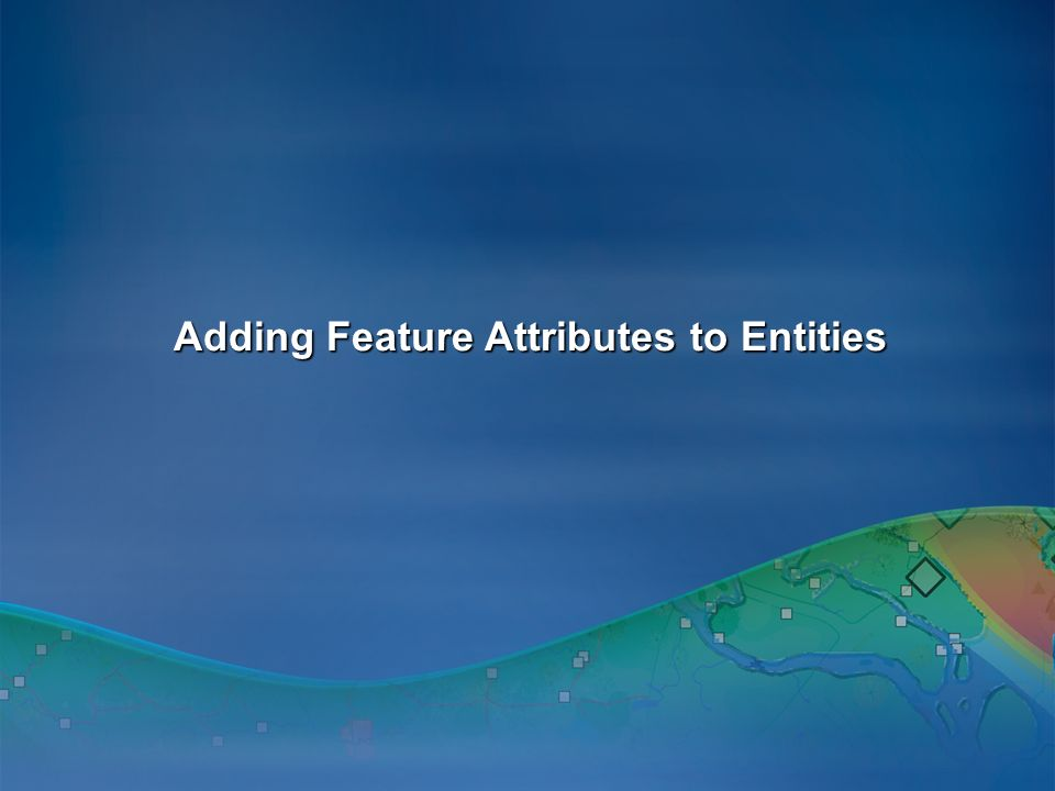 Adding Feature Attributes to Entities