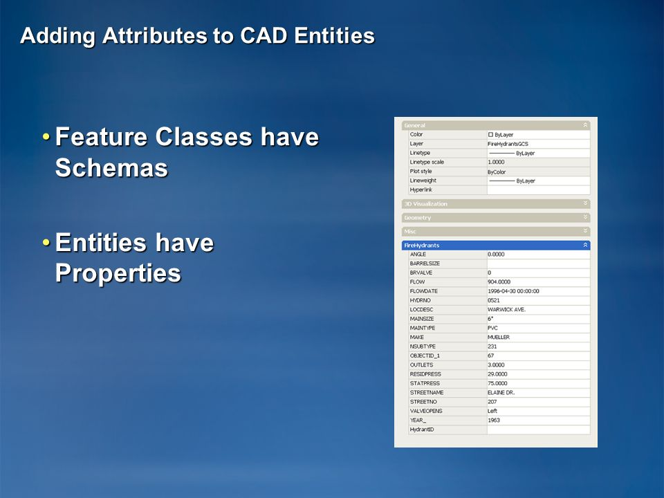 Adding Attributes to CAD Entities