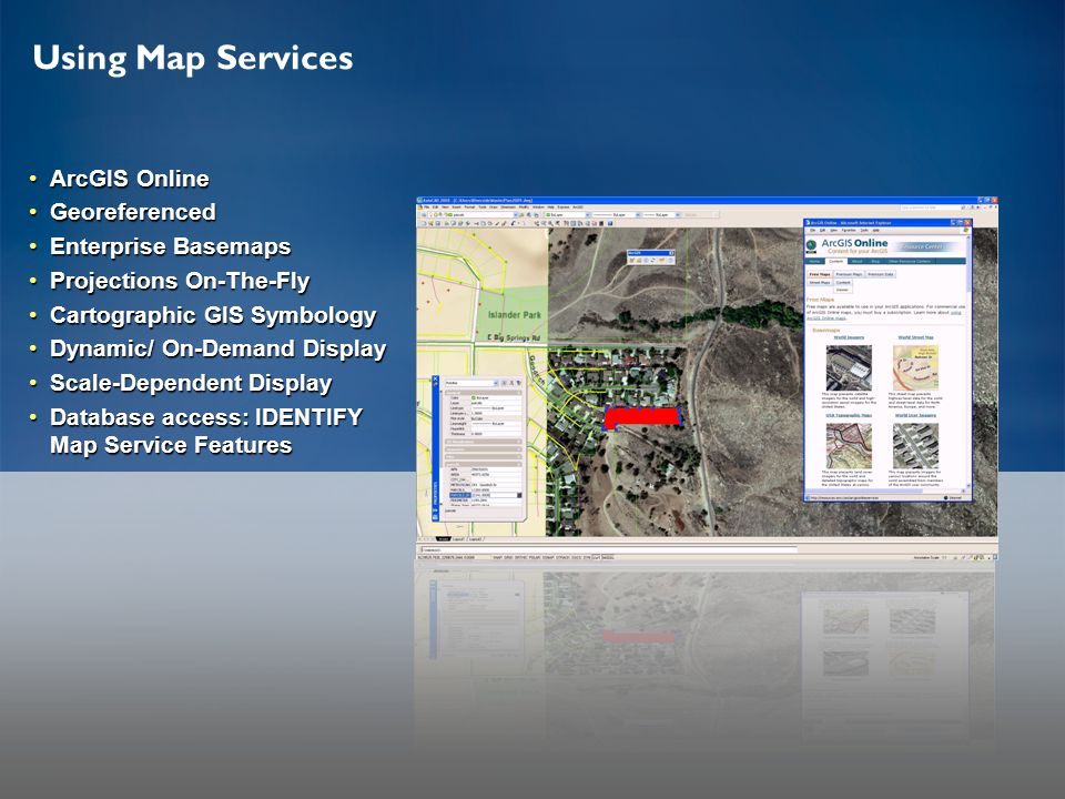 Using Map Services ArcGIS Online Georeferenced Enterprise Basemaps