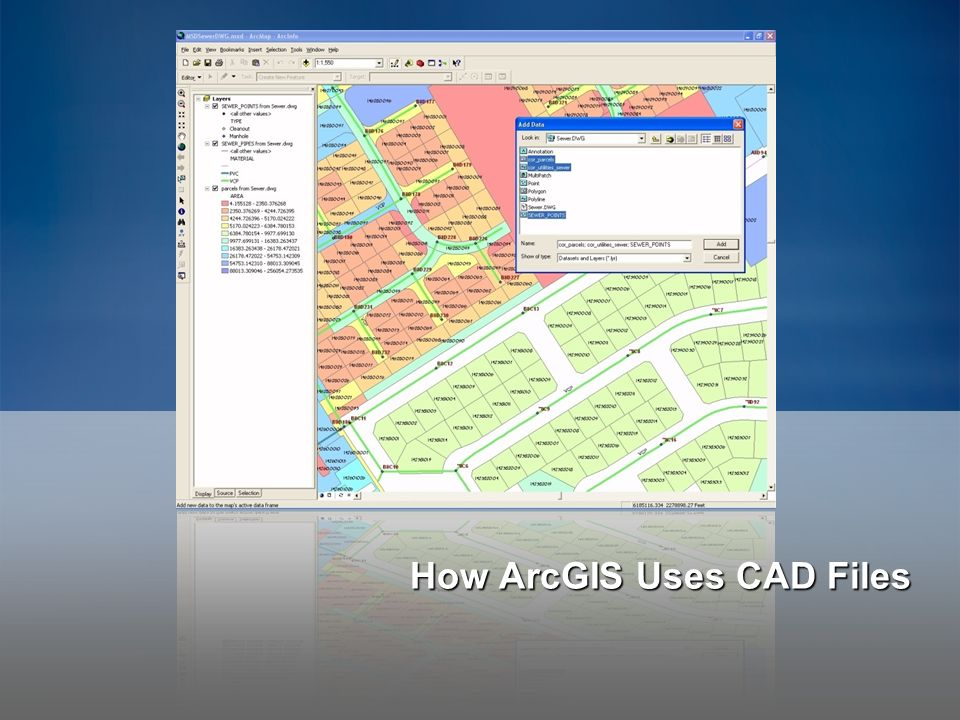 How ArcGIS Uses CAD Files