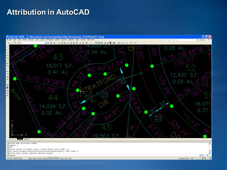 Attribution in AutoCAD