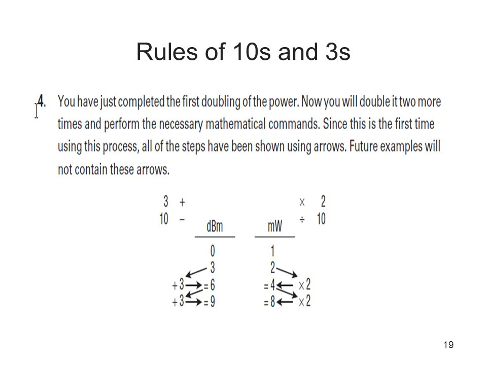 Rules of 10s and 3s