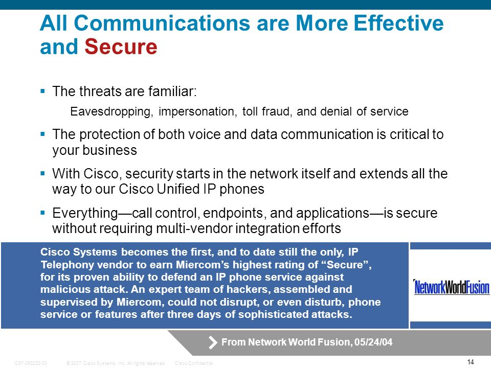 All Communications are More Effective and Secure