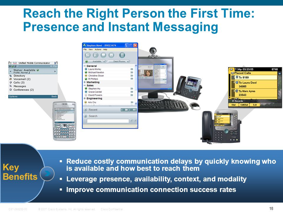 Reach the Right Person the First Time: Presence and Instant Messaging