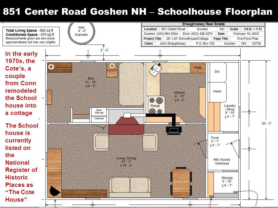 851 Center Road Goshen NH – Schoolhouse Floorplan
