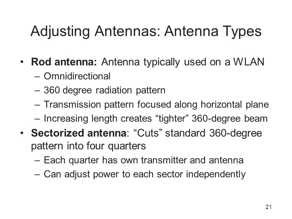 Adjusting Antennas: Antenna Types