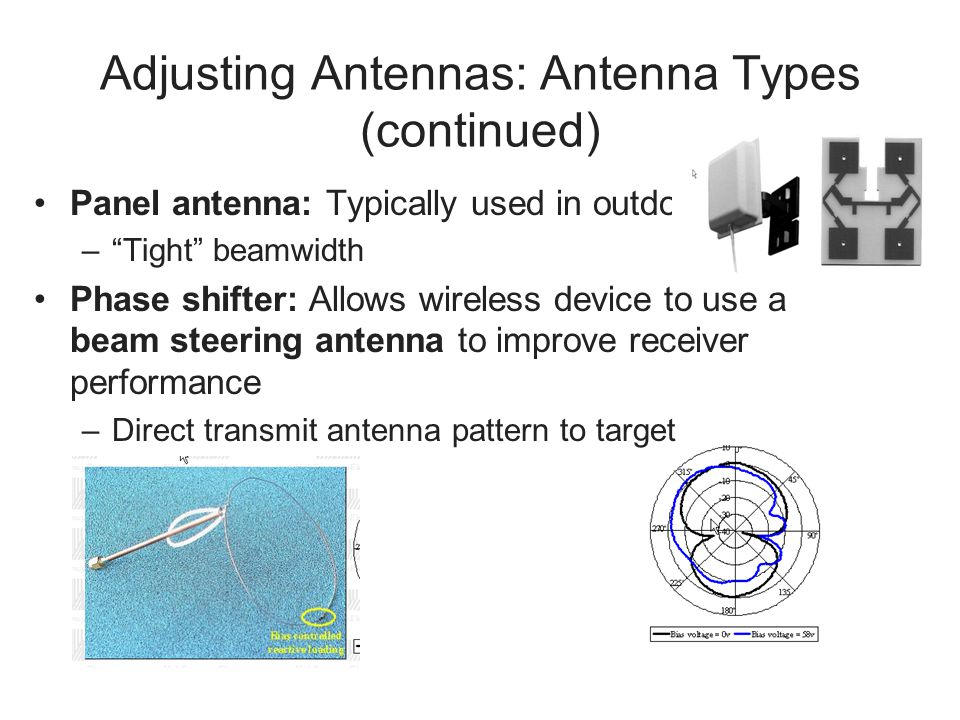 Adjusting Antennas: Antenna Types (continued)