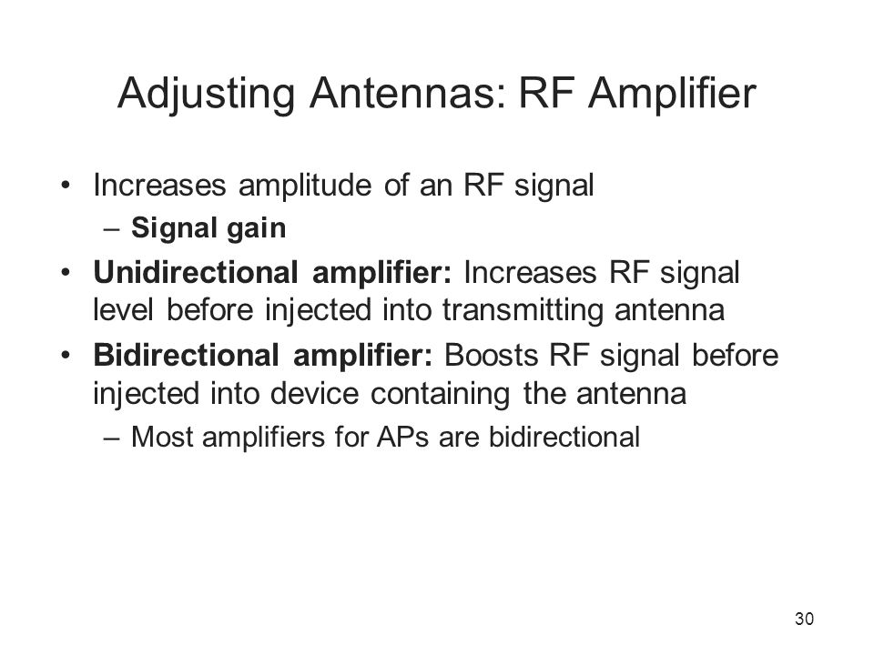 Adjusting Antennas: RF Amplifier