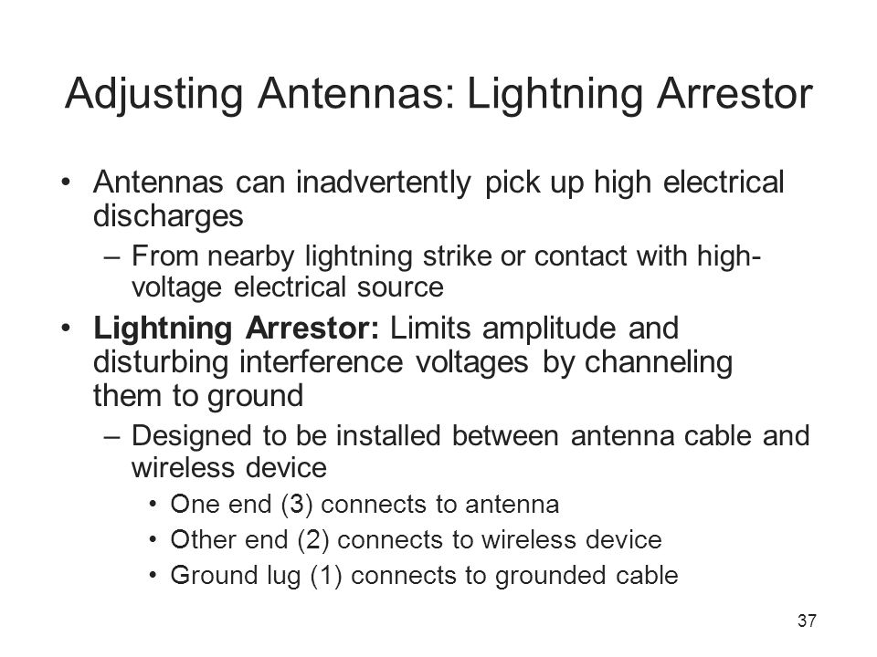 Adjusting Antennas: Lightning Arrestor
