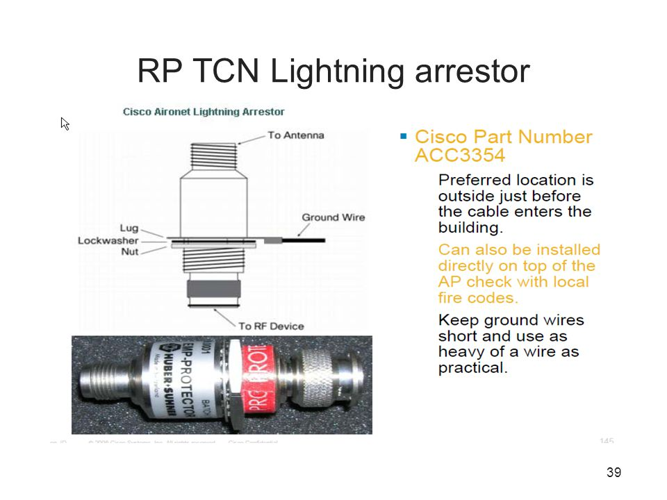 RP TCN Lightning arrestor