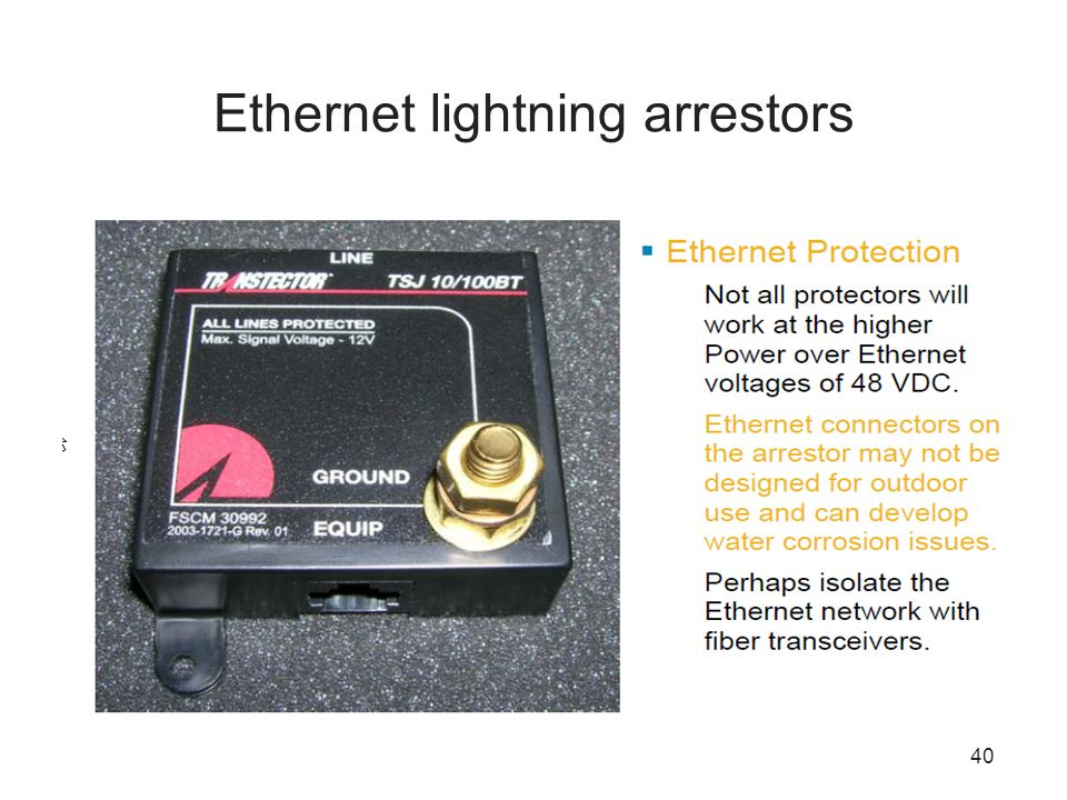 Ethernet lightning arrestors