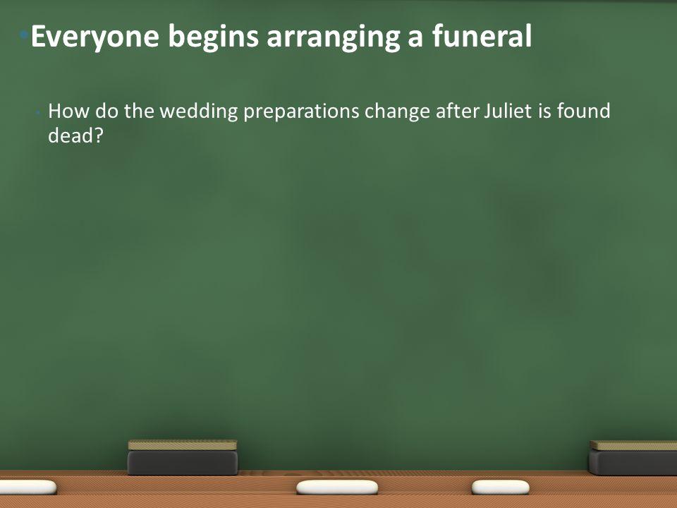 Everyone begins arranging a funeral
