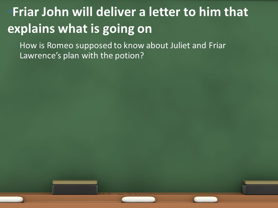 Friar John will deliver a letter to him that explains what is going on