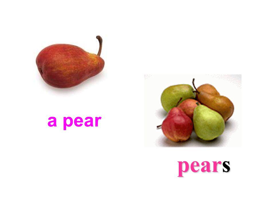 a pear pears