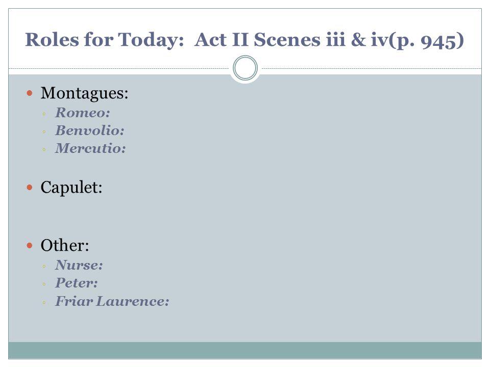 Roles for Today: Act II Scenes iii & iv(p. 945)
