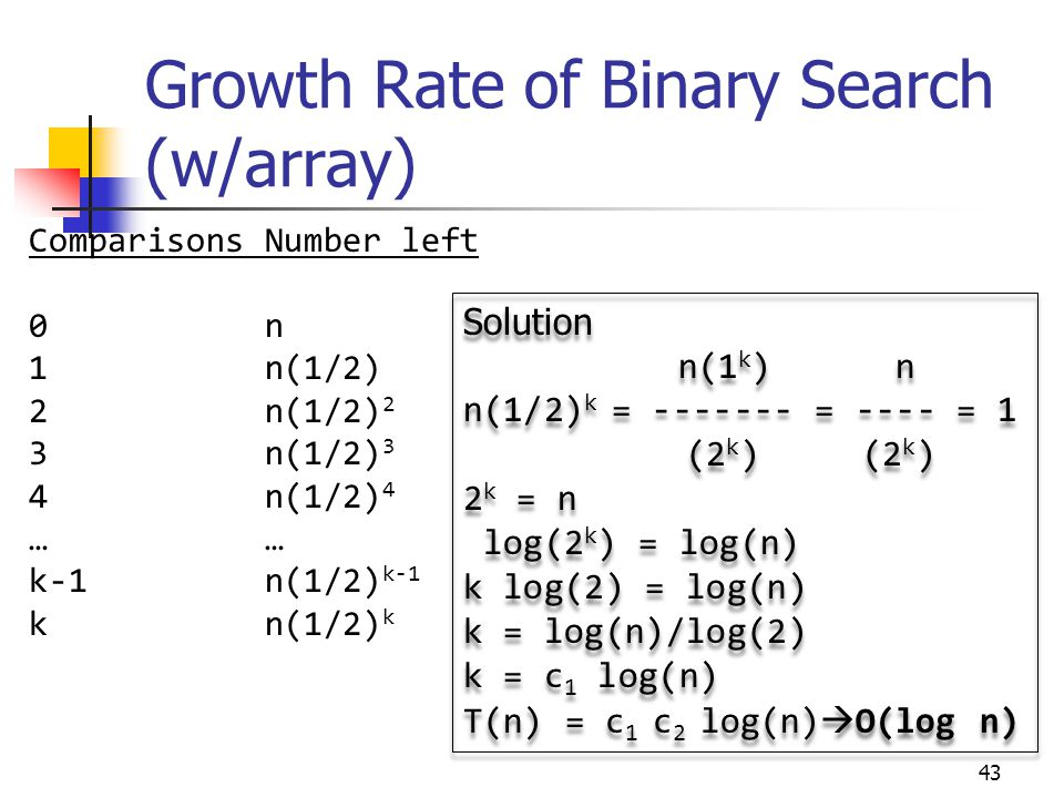 F array binary search