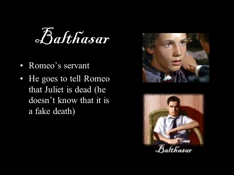 Balthasar Romeo's servant
