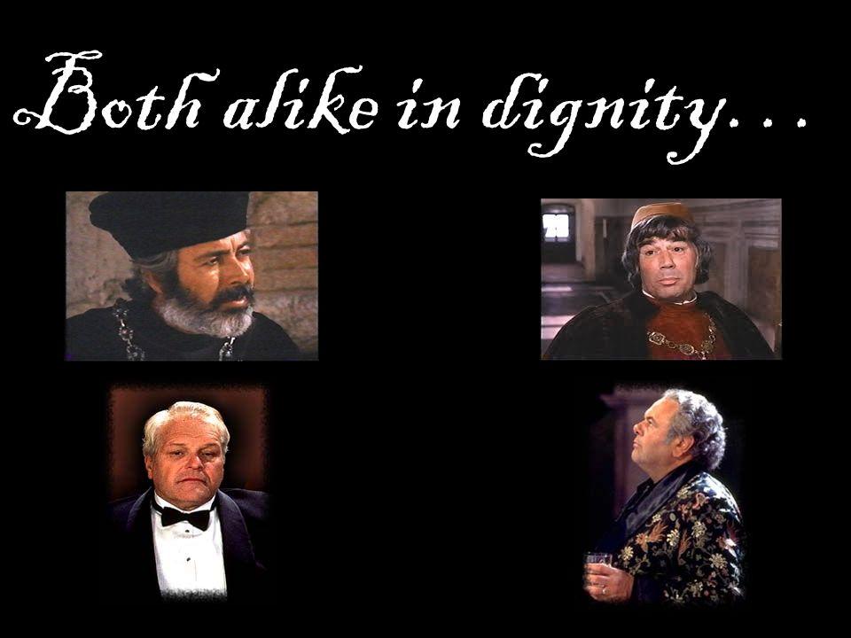 Both alike in dignity…