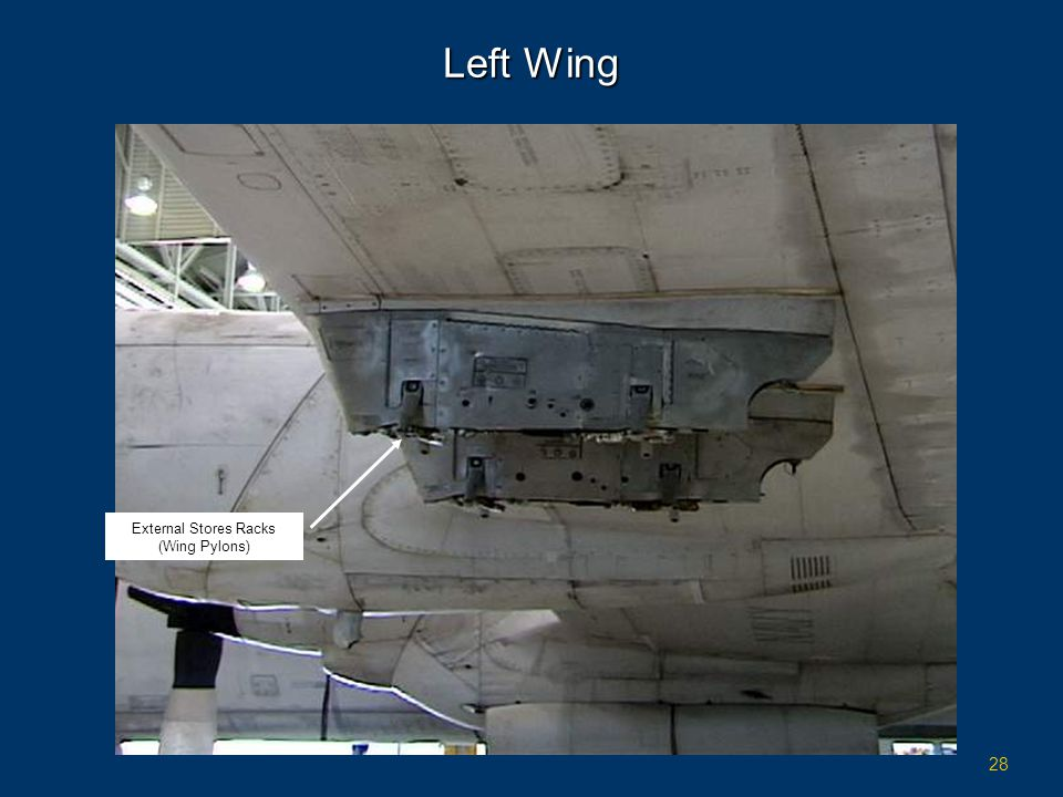 Left Wing External Stores Racks (Wing Pylons)
