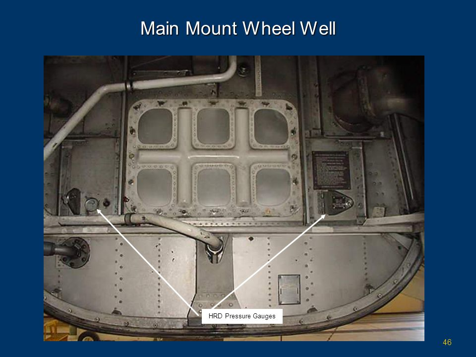Main Mount Wheel Well HRD Pressure Gauges