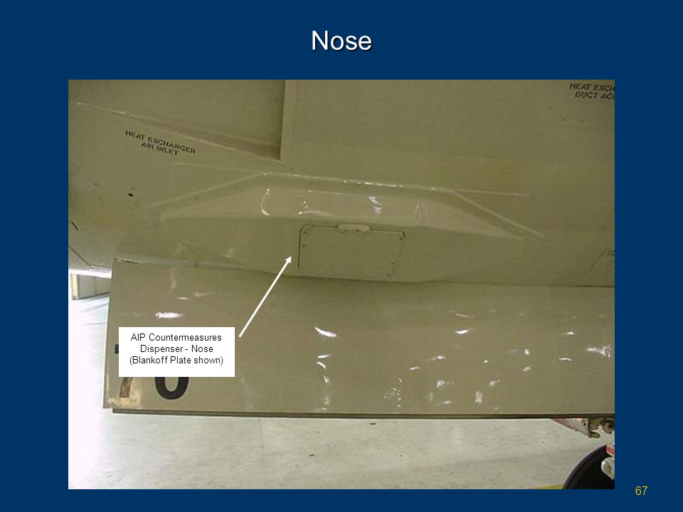 Nose AIP Countermeasures Dispenser - Nose (Blankoff Plate shown)