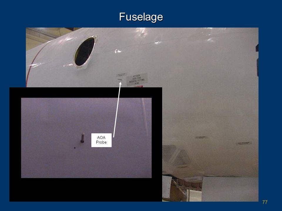 Fuselage AOA Probe