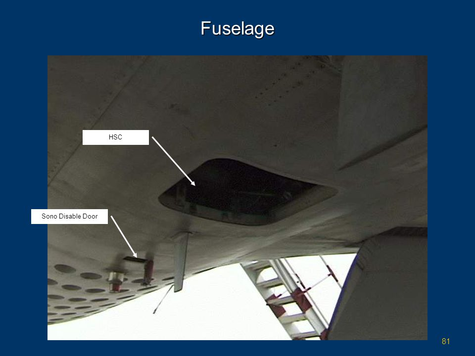 Fuselage HSC Sono Disable Door