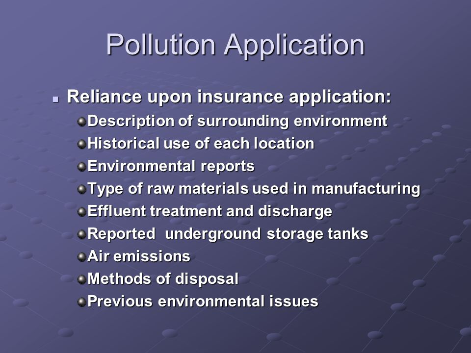 Pollution Application