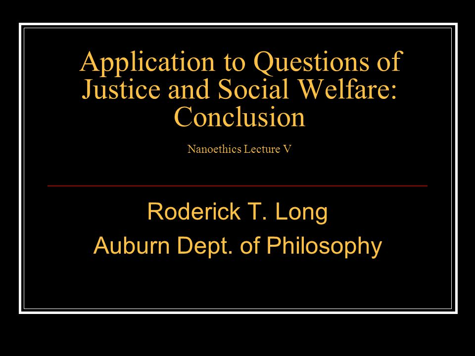 Roderick T. Long Auburn Dept. of Philosophy