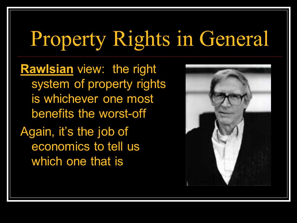 Property Rights in General