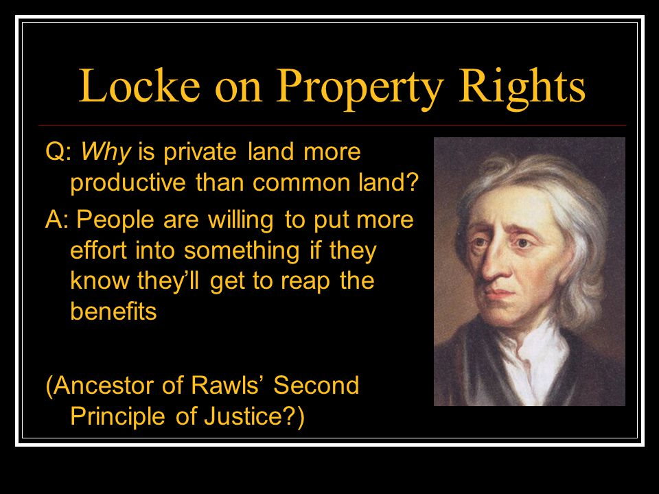 Locke on Property Rights