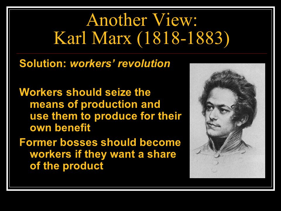 Another View: Karl Marx (1818-1883)