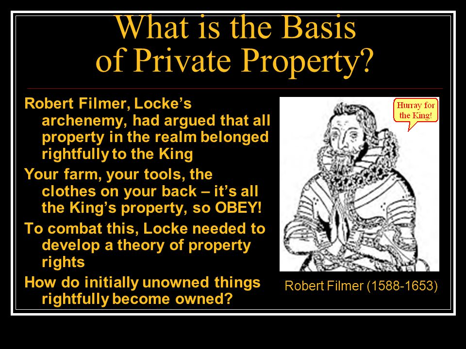 What is the Basis of Private Property