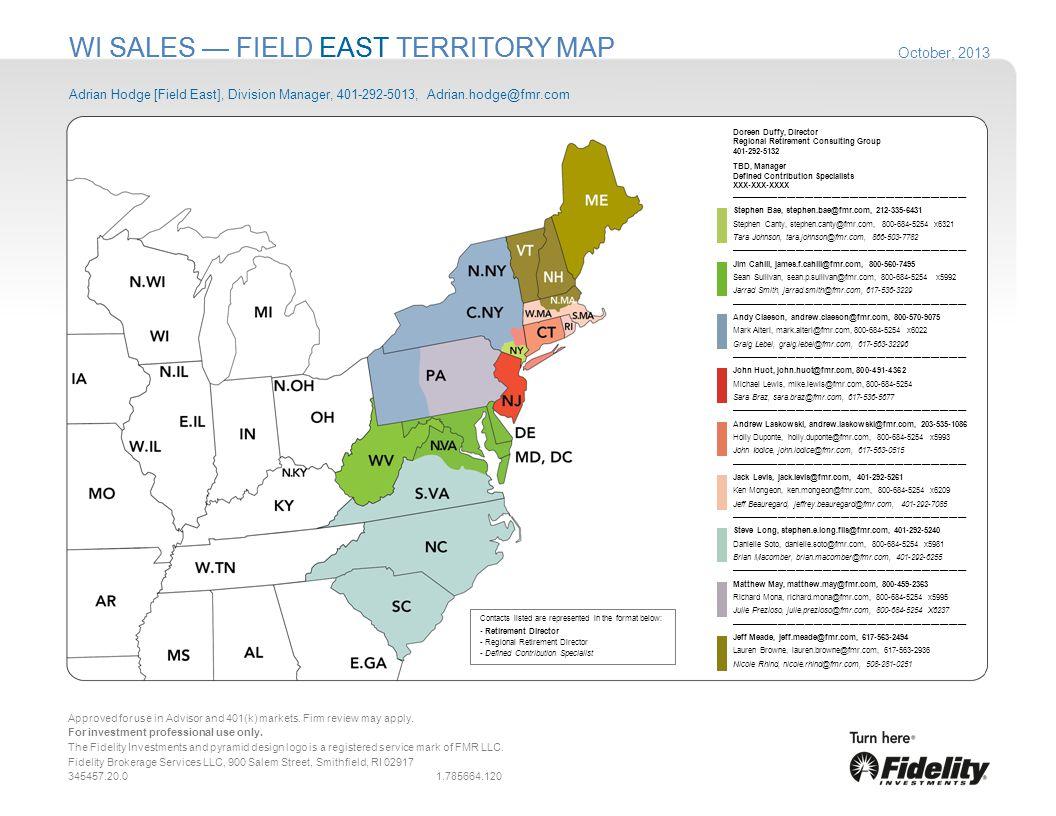 WI SALES — FIELD EAST TERRITORY MAP
