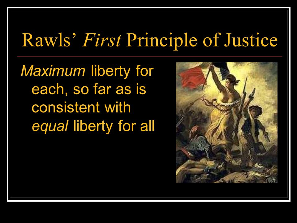 Rawls' First Principle of Justice