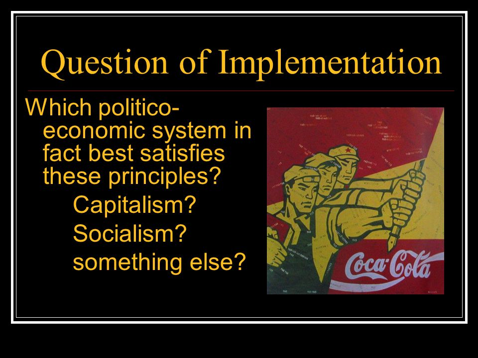 Question of Implementation