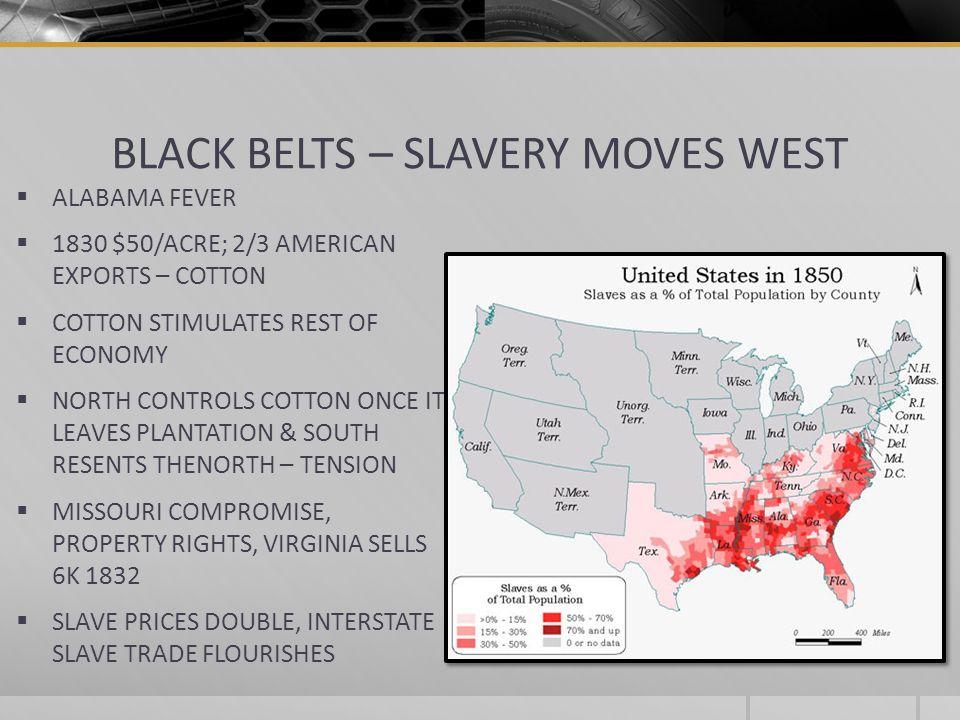 BLACK BELTS – SLAVERY MOVES WEST
