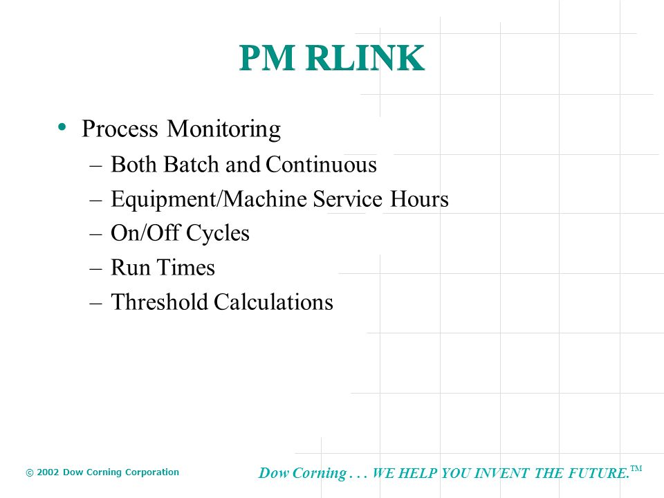 PM RLINK Process Monitoring Both Batch and Continuous