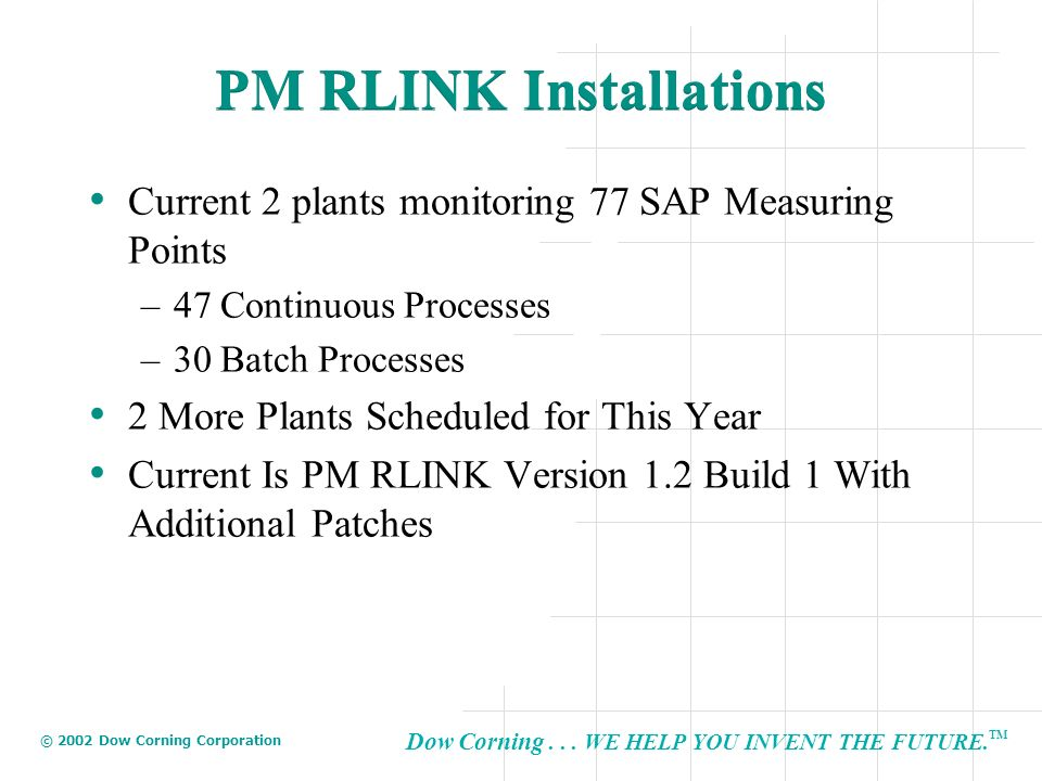 PM RLINK Installations