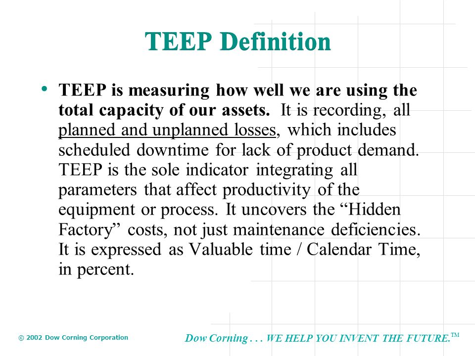 TEEP Definition