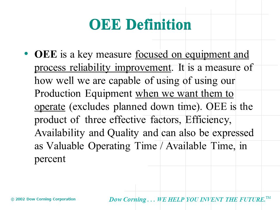 OEE Definition