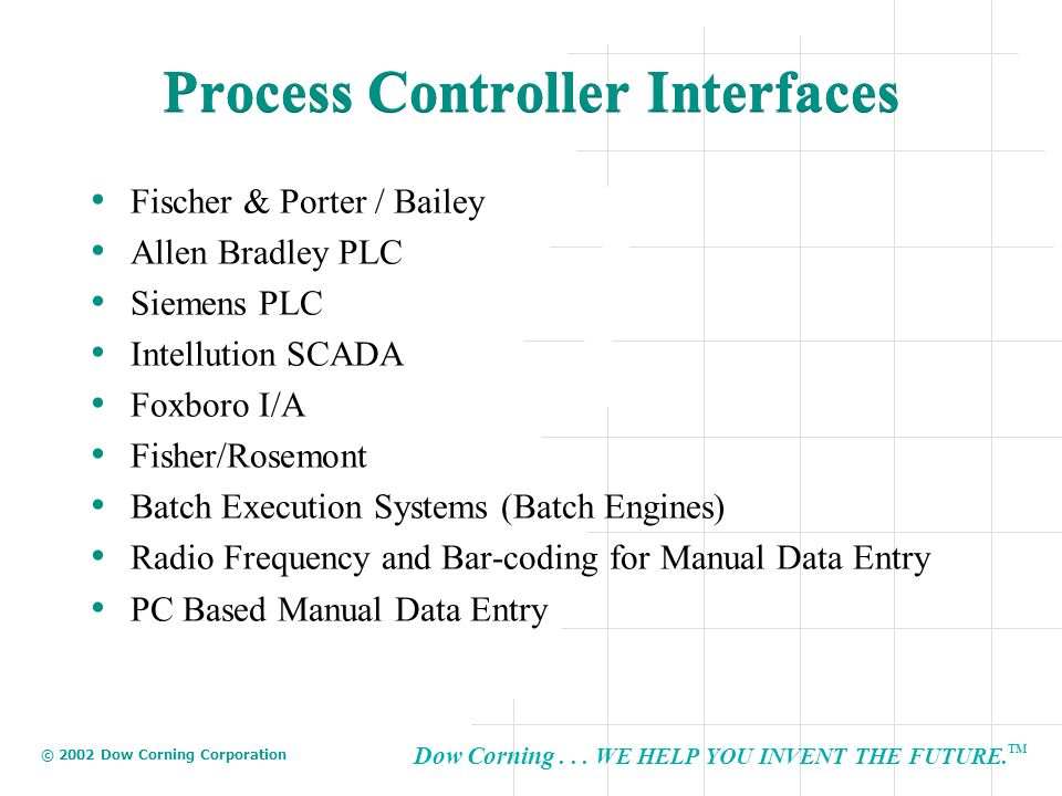 Process Controller Interfaces