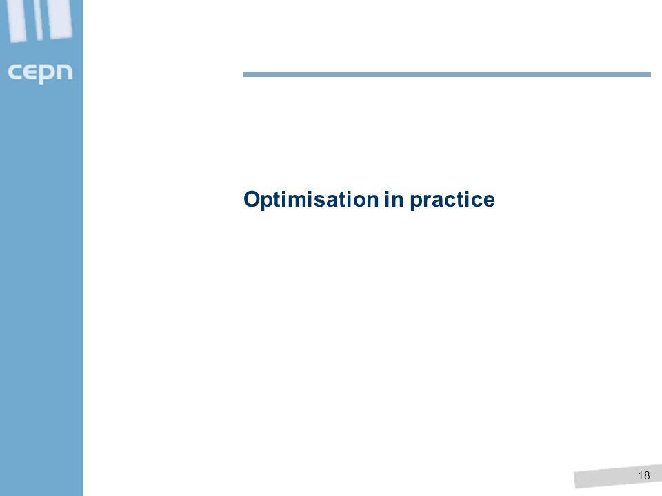 Optimisation in practice