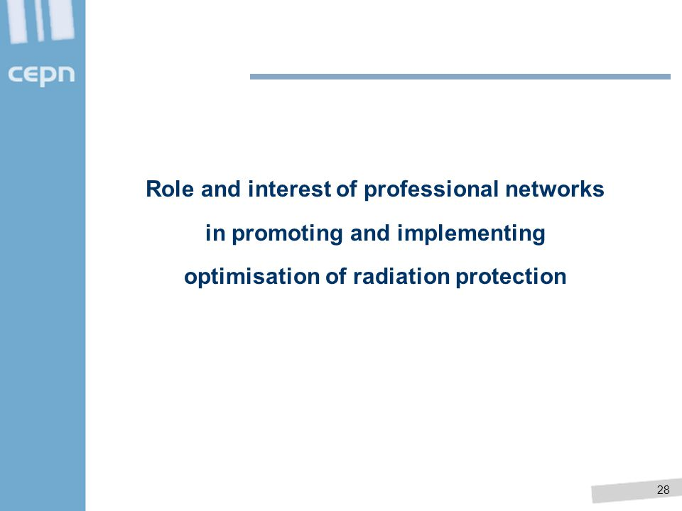 Role and interest of professional networks