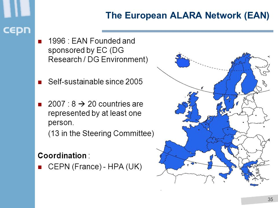 The European ALARA Network (EAN)